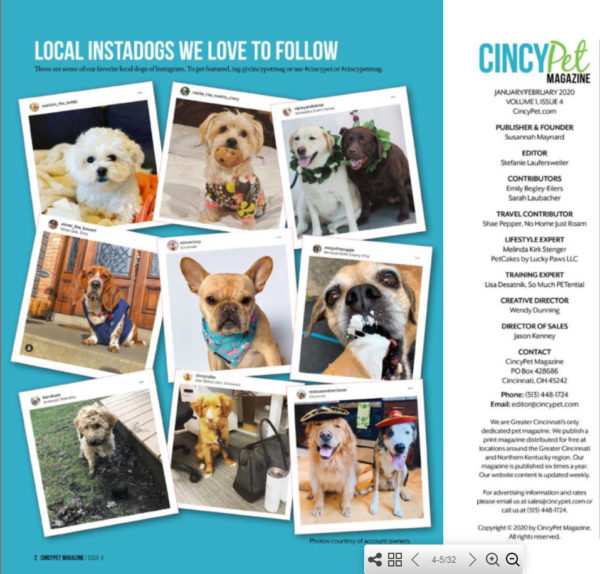 Vincecincy in Cincy Pet Magazine Jan Feb 2020